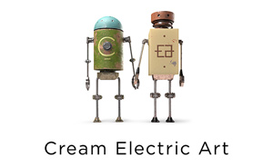 Cream Electric Art